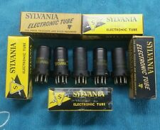 New listing Five 6Sh7 Nos Metal vacuum tubes Sylvania Made In Usa