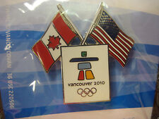LOT of 60 PINS - Vancouver 2010 Olympics - Dual Flag Pin - Canada/USA