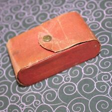 Antique Victorian Travel Case, Leather Beauty Case, Files, mirror, Lips