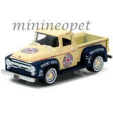 GREENLIGHT 41010 A 1956 FORD F-100 RED CROWN GASOLINE PICK UP TRUCK 1/64 CREAM