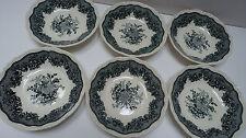Masons Ascot grün England Ironstone 6 Schälchen Schale Teller D 13,8 cm H 3 cm