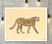 20.5W x 20.5H Framed Wall Art African Cheetah II by Isabelle Z