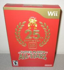 SUPER MARIO ALL-STARS Sealed NEW Nintendo Wii Limited Special Edition Box Set