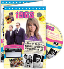 24038 1968 DVD CARD DVDCARD BIRTHDAY GREETING VISUAL HISTORY OF A SPECIAL YEAR