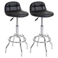 2x tabouret de bar Bolton, chaise, similicuir, rotatif ~ anthracite