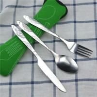 3pcs Western Food Cutlery Set Steak Knife Fork Spoon Dinnerware Tableware Set