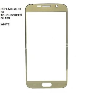 Front Glass Lens Replacement Part for Samsung Galaxy S6  - White