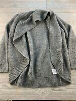 *Banana Republic Wool Blend Gray Long Sleeve Open Cardigan Sweater Medium