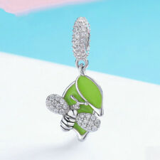 DiIY lovely Bee Silver CZ European Charm Beads Fit 925 Pendant Necklace Bracelet