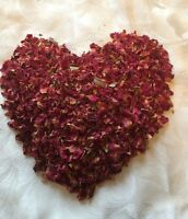 DRIED NATURAL ROSE PETALS, ROSE SCENTED, 100% BIODEGRADABLE, WEDDING CONFETTI,