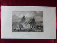 Antique engraving VIEW of ST LAWRENCE CHURCH, ISLE OF WIGHT c1830 Veduta print