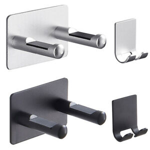 Bathroom Hair Dryer Holder Aluminum Alloy Stand Rack Wall Mounted Drier Storage