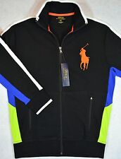 Polo Ralph Lauren Big Pony Track Jacket Full Zip Black Large L NWT $145