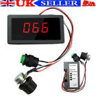 DC 6V 12V 24V Motor PWM Speed Controller With Digital Display & Switch Max 8A UK