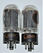 2 vintage CONN RCA 6L6GC Black Plate Audio Amplifier Tubes