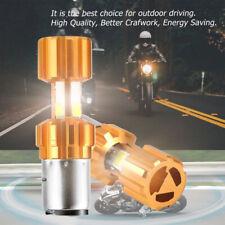 DC 12V H6 BA20D COB LED Motorcycle Motorbike Headlight Bulb Headlamp White