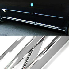 Chrome Side Skirt Door Line Sill Garnish Molding 4P for SUBARU 2014-17 Forester