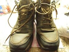 Ariat technology leather  Mens  High top laceup steel toe work boots 10.5 EE