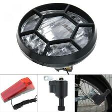 Head Tail Light Motorized Bike Bicycle Friction Generator Dynamo LED Accessories
