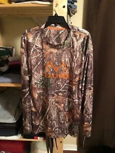 NWT Real Tree Edge Performance Men's Camouflage Dri Fit Long Sleeve Tee 2XL