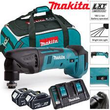 Makita DTM50Z 18 V Oscilante Multiherramienta Con 2 X 5Ah BL1850, DC18RD & LXT400 Bolsa