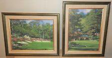Larry Dyke Artist Proof Canvas Prints Augusta Amen Corner 2 Prints Signed Framed