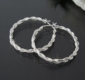 Ohrringe Silber 925 Creolen Niklarson Silberschmuck Silberohrringe Schmuck VO40