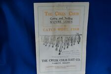 VINTAGE CREEK CHUB BAIT CO. CATALOG 8 PAGES HAS THE OPEN MOUTH SHINER IN IT ! !