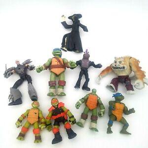 Lot of 9 Teenage Mutant Ninja Turtle Action Figures TMNT