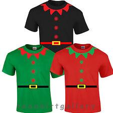 CHRISTMAS ELF SANTAS HELPER SANTA CLAUS Festive Funny Fancy Dress COSTUME Tops