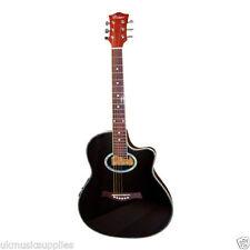 Guitares électro-acoustiques noirs