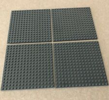 "LEGO Lot of 4 Base plates DARK BLUISH GRAY 16x16 dot 5""x5"" square base plate"