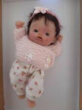 Mini polymer clay baby girl OOAK