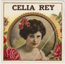 Celia Rey - Cigar Box Label