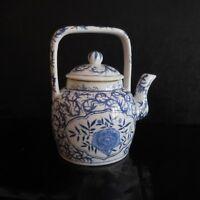 Tetera Cerámica Porcelana de China Art Nouveau Déco Vintage Pn Francia N3102