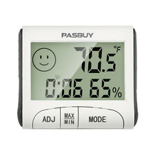 PASBUY P11 LCD Digital Thermometer Hygrometer Temperature Humidity Clock Alarm