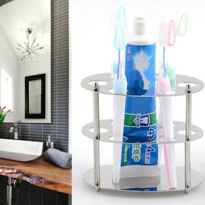 Stainless Steel Toothbrush Holder Storage Wall Mounted Bathroom Supplies