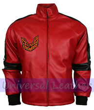 Smokey And The Bandit embroidered Inspired Red Faux Leather Jacket Costume