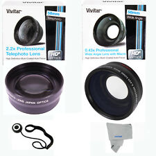 58MM 0.45X Wide Angle & 2X Telephoto Lens for CANON REBEL EOS T1 T2 T3I T4 T5 T3