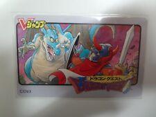 Dragon Quest I Nintendo Famicom / Jump Blue Telecard Telephone Cards Japan NEW