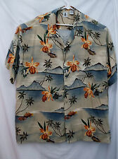 Flowers/Plam Trees Hawaiian Style Shirt-3X/Big-High & Mighty