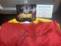 DOMINIQUE WILKINS Autographed/Signed ATLANTA HAWKS WARMUP JERSEY w/COA PROOF HOF