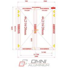 Brandschutz Aluminiumtüre, T30, T60, Brandschutztür, MB78EI 2000 mm x 2290 mm