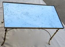 1950/70' Table basse en bronze avec galerie Maison Bagués, entretoise