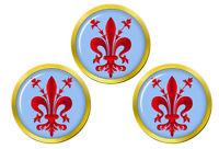 Florentine Fleur-De-Lis Set de 3 Marqueurs de Balles de Golf