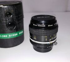 Nikon Micro Nikkor 55mm f/3.5 MF Ai-S Film Camera Lens