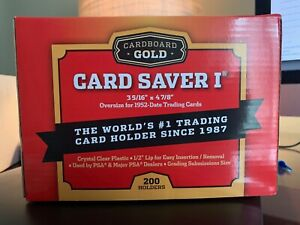 200 Count Box Cardboard Gold Card Saver 1 PSA BGS Grading Submissions    NEW