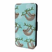 For iPod Touch Flip Case Cover 5th 6th Gen Cute Sloth Pattern - S6063