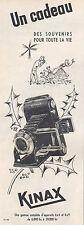 Publicité KINAX appareil photo vintage print ad  1954 -2j