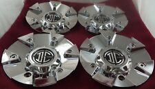 2 Crave Wheels Chrome Custom Wheel Center Caps Set of 4 # C622801CAP